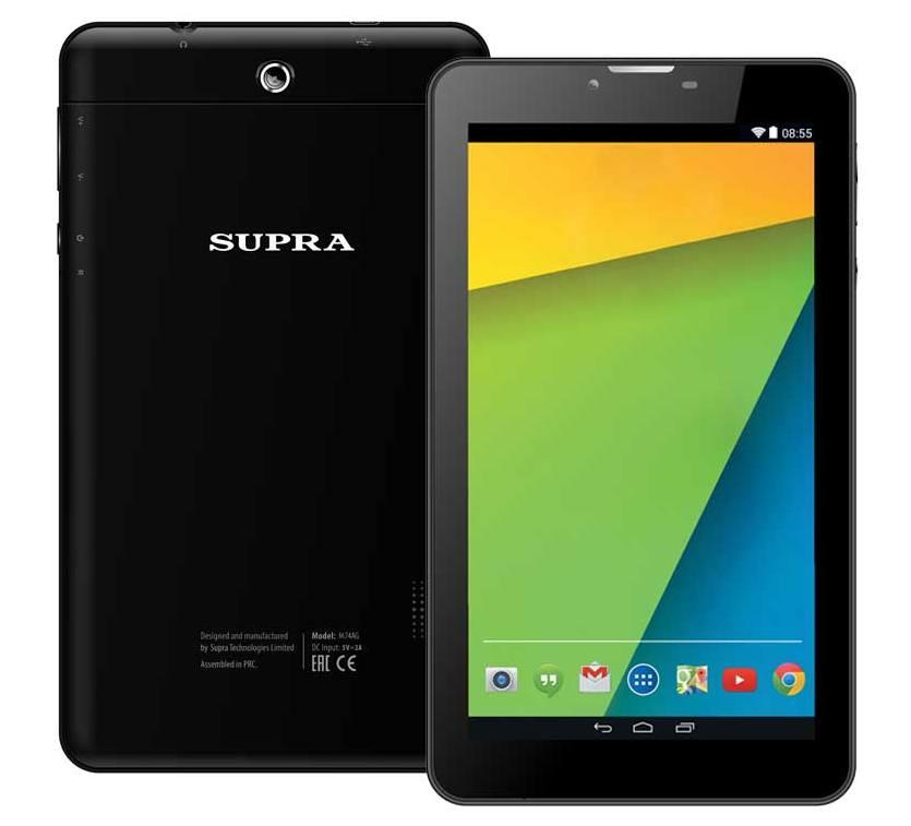 Планшетный компьютер Supra 4 ядра Wi-Fi 4Gb (до 32Gb) BT 3G 2-SIM Android 4.4 <M74AG>
