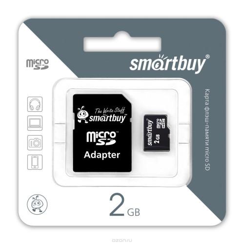 Карта памяти MicroSD 2Гб с адаптером