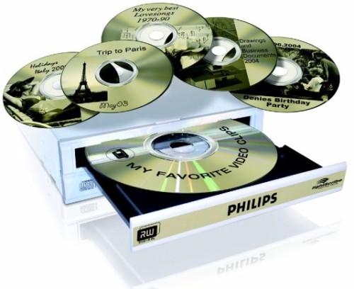 Компакт-диск CD-R без упаковки LIGHTSCRIBE