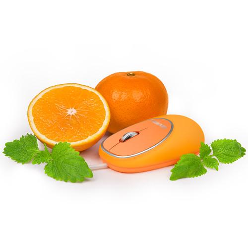 Мышь Sven RX-555 USB оранжевый (orange) Антистресс мягкое покрытие, тихая