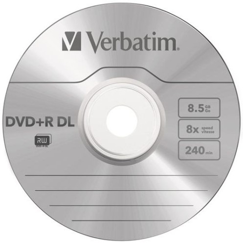 Компакт-диск DVD+R DL 8.5Гб jewel Verbatim