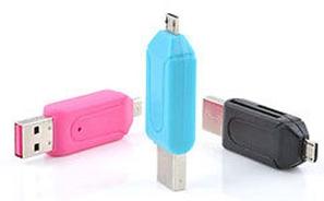 Картридер-флэшка OTG USB-MicroUSB