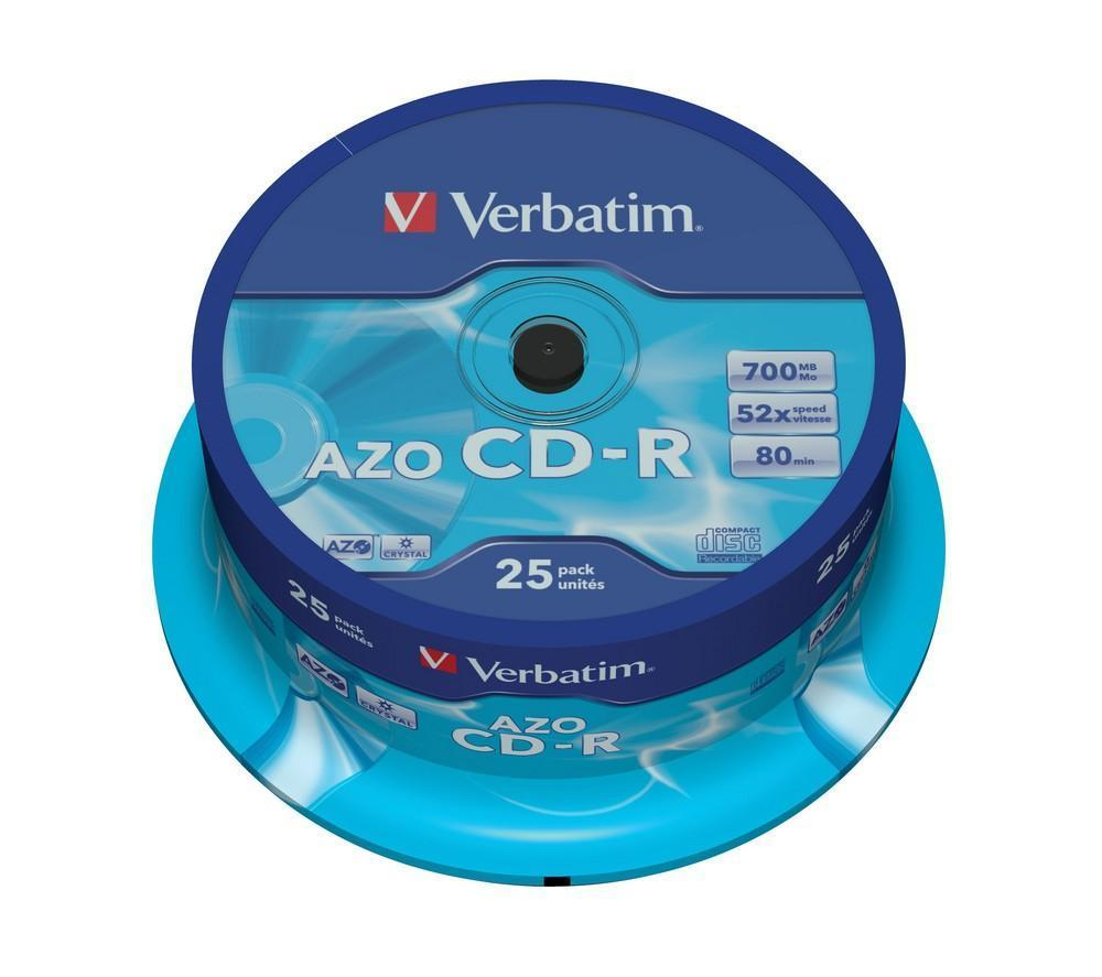 Компакт-диск CD-R 700Mb cake Verbatim 1шт.
