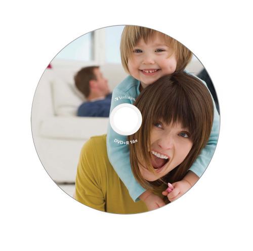 Компакт-диск DVD+R 4.7Гб PRINTABLE cake Verbatim 1шт.