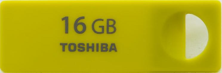 Флэшка 16Гб Toshiba Mini Yellow @@@@@